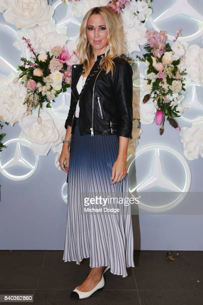 Bec Cartwright poses ahead of the Dior lunch at NGV International on August 29 2017 in Melbourne Australia
