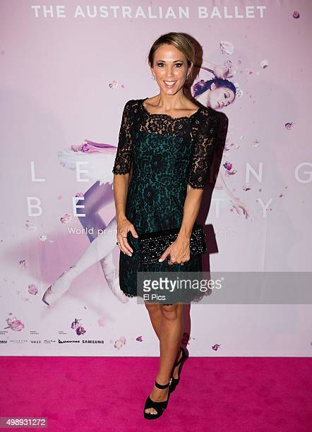Bec Hewitt attends the Australian Ballet Sleeping Beauty Opening Night on November 27 2015 in Sydney Australia