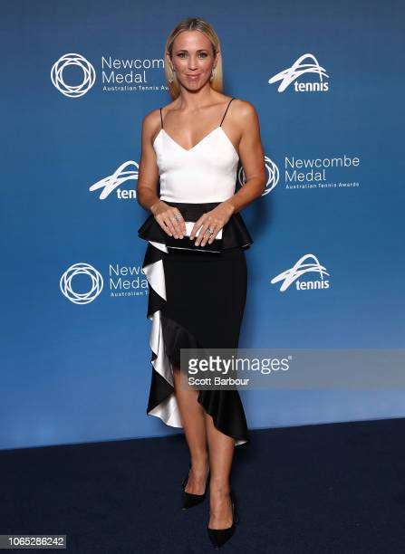 Bec Hewitt poses ahead of the Newcombe Medal at Crown Entertainment Complex on November 26 2018 in Melbourne Australia