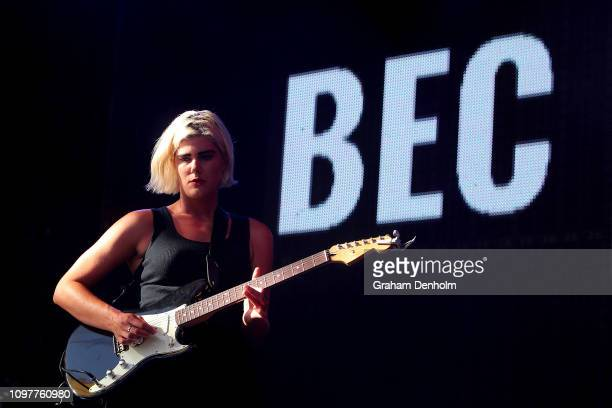 Bec Sandridge performs on the AO Live Stage during day nine of the 2019 Australian Open at Melbourne Park on January 22, 2019 in Melbourne, Australia.
