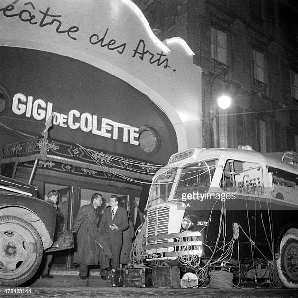"""Because of broadcast of the RTF in front of the Thetre des Arts on the occasion of the broadcasting of Colette's play """"""""Gigi"""""""""""