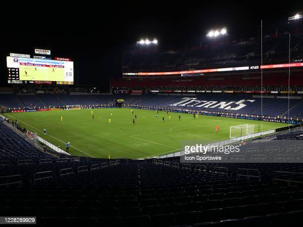 Because of COVID-19 precautions, no fans were in attendance for in a match between Nashville SC and Inter Miami CF on August 30 at Nissan Stadium in...