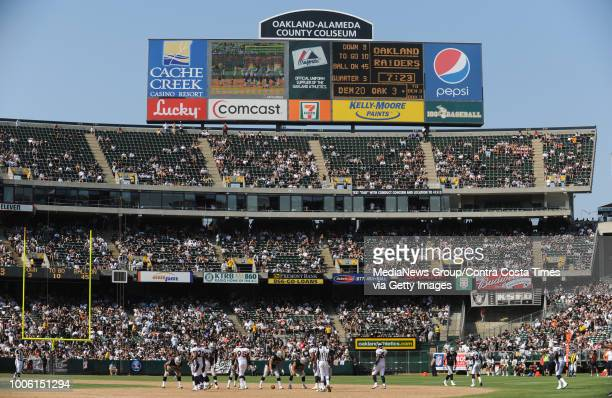 Because of poor ticket sales the televised game of the Oakland Raiders vs Denver Broncos was blacked out locally on Sunday Sept 27 at the Oakland...