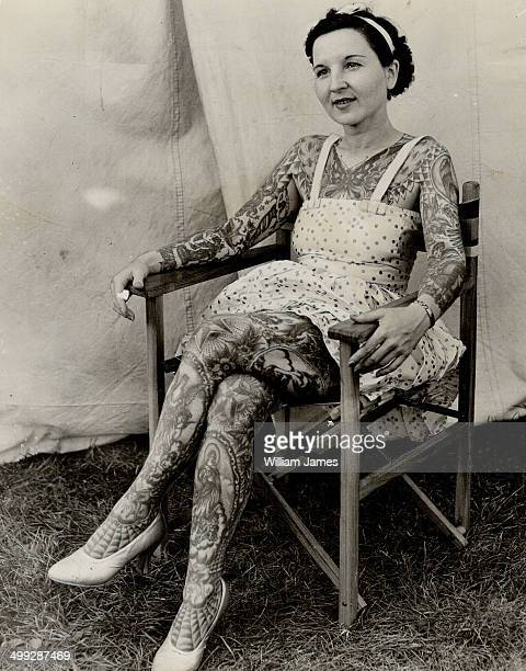 Because She Thought being the tattooed lady was the easiest way to make a living this Philadelphia girl became Miss Stella of the circus