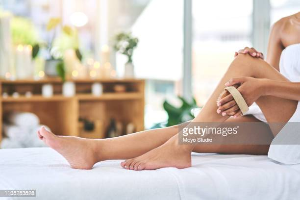 because who doesn't love smooth legs? - black pedicure stock photos and pictures