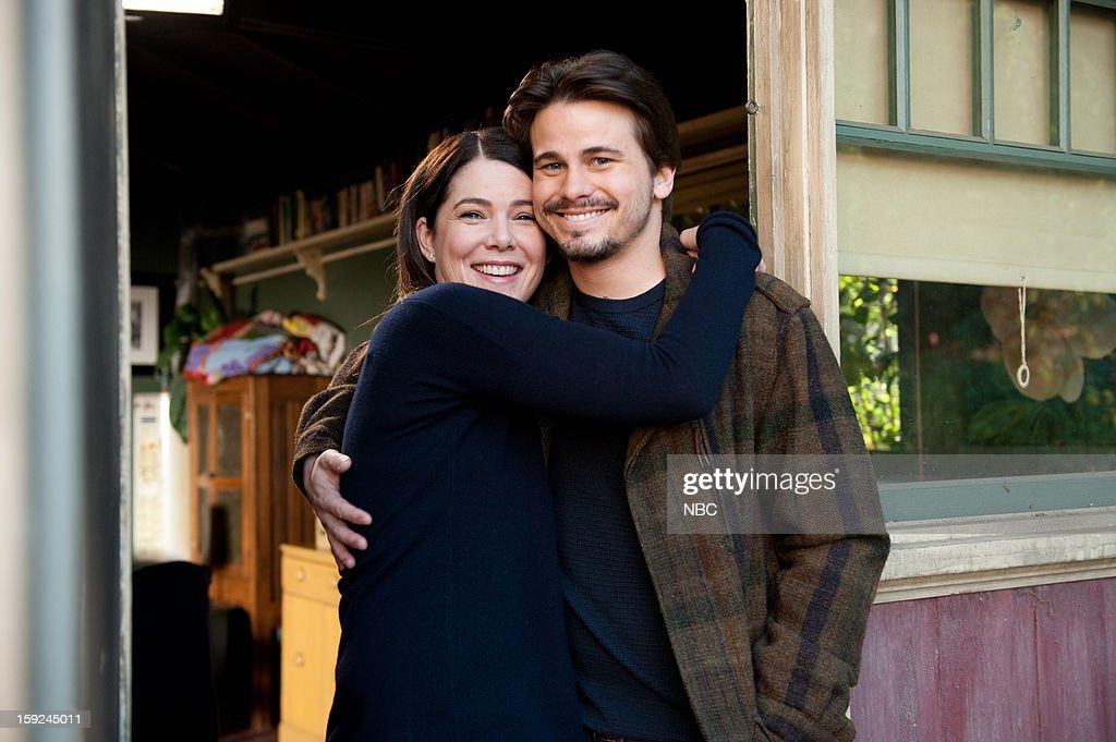 PARENTHOOD -- 'Because You're My Sister' Episode 415 -- Pictured: (l-r) Lauren Graham as Sarah Braverman, Jason Ritter as Mark Cyr --