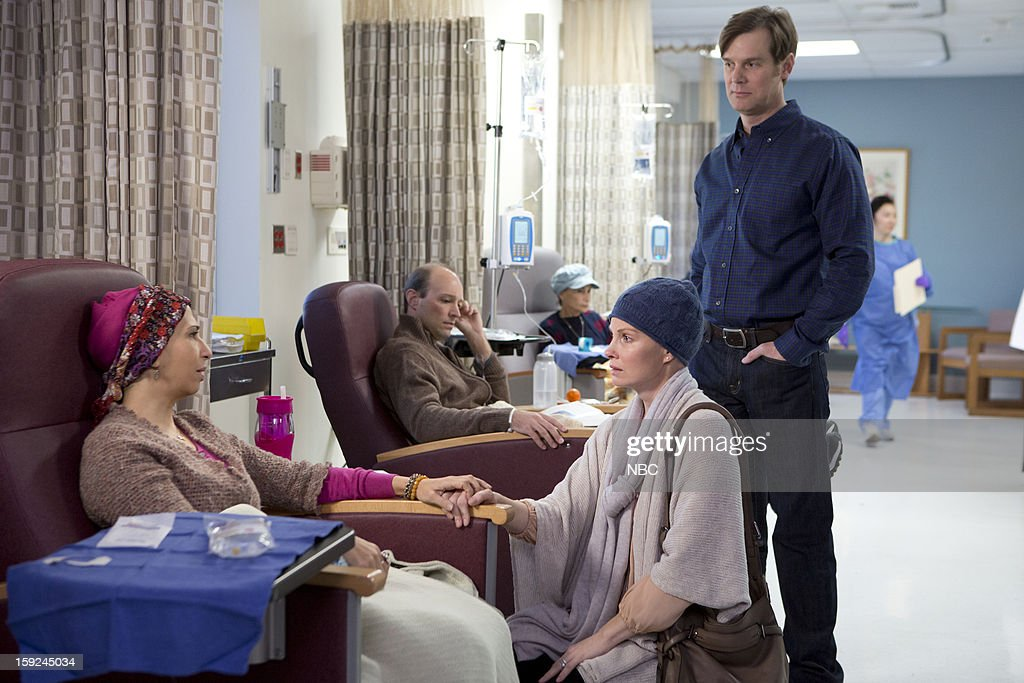 PARENTHOOD -- 'Because You're My Sister' Episode 415 -- Pictured: (l-r) Rose Abdoo as Gwen, Monica Potter as Kristina Braverman, Peter Krause as Adam Braverman --
