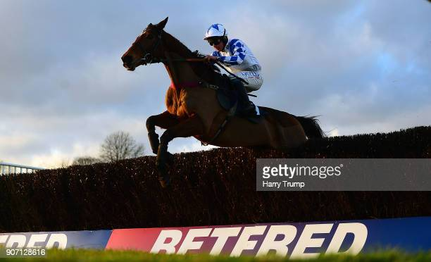 Becauseshesaidso ridden by Charlie Deutsch jump the last on their way to winning the Download The App At 188Bet Handicap Steeple Chase at Chepstow...