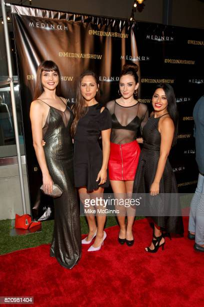 Becca Buckelew Kit Reeve and Najarra Townsend attend the International SciFi Series 'Medinah' premiere and red carpet reception at ComicCon...