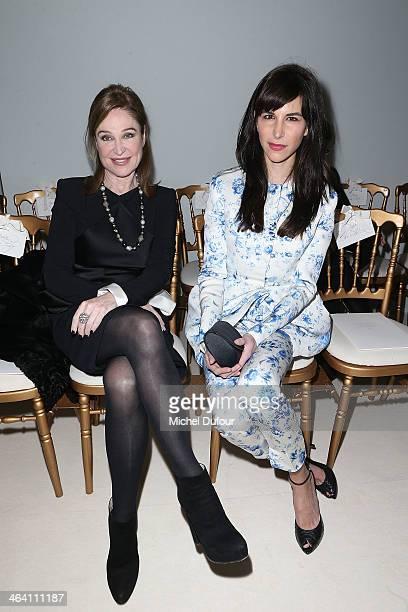 Becca Cason Thrash and Caroline Sieber attend the Giambattista Valli show as part of Paris Fashion Week Haute Couture Spring/Summer 2014 on January...