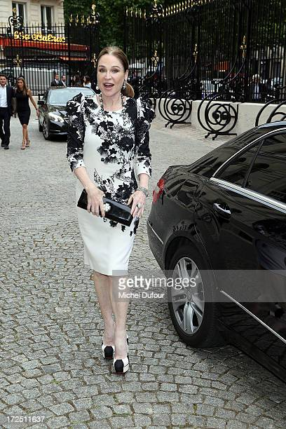 Becca Cason Thrash arrives at the Bulgari The Diva Event In Paris at Hotel Potocki on July 2 2013 in Paris France