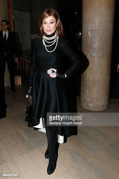 Becca Cason Thrash attends the Giorgio Armani Prive show as part of Paris Fashion Week Haute Couture Spring/Summer 2014 on January 21 2014 in Paris...