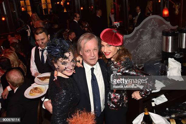 Becca Cason Thrash Patrick McMullan and Tracey Amon attend Julie Macklowe's 40th birthday Spectacular at La Goulue on December 19 2017 in New York...