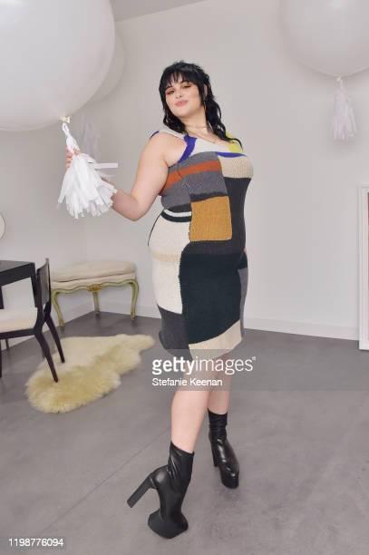 Becca Cosmetics Spokesperson Barbie Ferreira attends VIOLET GREY'S Estée Lauder Act IV capsule makeup collection launch honoring Danielle Lauder on...
