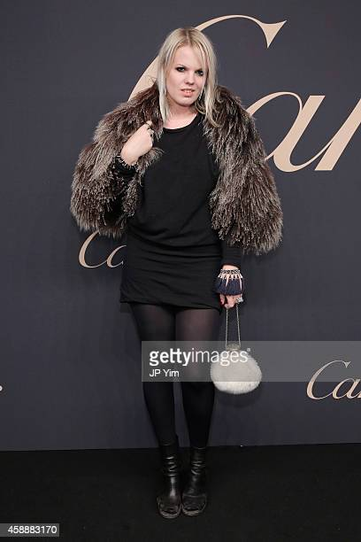 Becca Diamond attends The Maison Cartier Celebrates 100th Anniversary Of Their Emblem La Panthere De Cartier at Skylight Clarkson Sq on November 12...