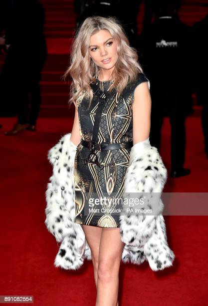 Becca Dudley attending the european premiere of Star Wars The Last Jedi held at The Royal Albert Hall London