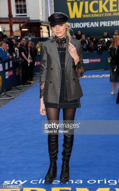 """Becca Dudley attends the European Premiere of """"Extremely Wicked, Shockingly Evil And Vile"""" at The Curzon Mayfair on April 24, 2019 in London, England."""