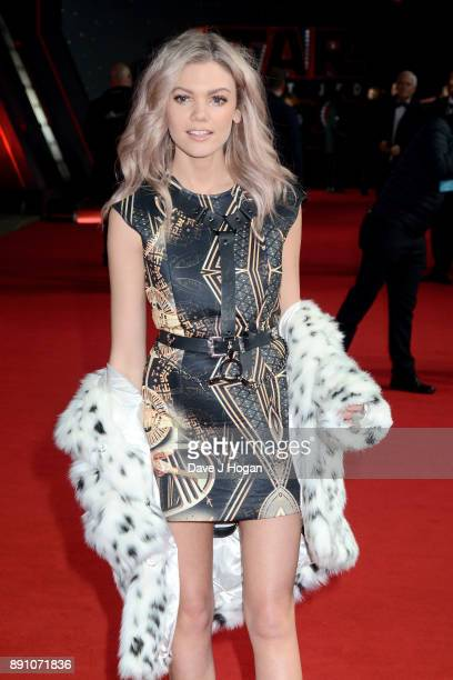 Becca Dudley attends the European Premiere of 'Star Wars The Last Jedi' at Royal Albert Hall on December 12 2017 in London England