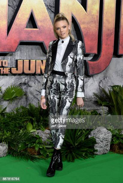 Becca Dudley attends the 'Jumanji Welcome To The Jungle' UK premiere held at Vue West End on December 7 2017 in London England