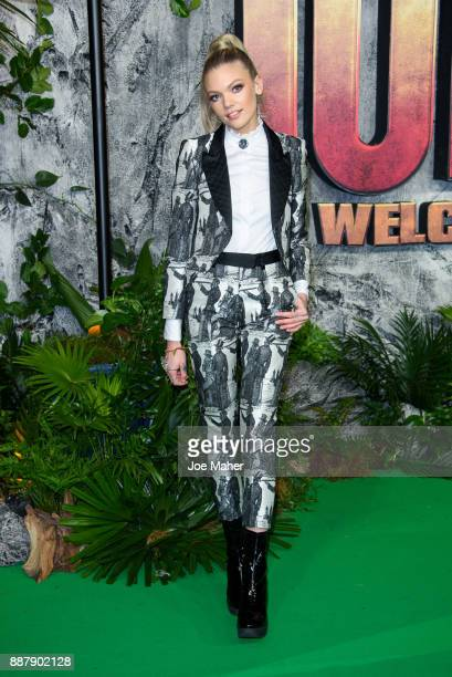 Becca Dudley attends the 'Jumanji Welcome To The Jungle UK premiere held at Vue West End on December 7 2017 in London England