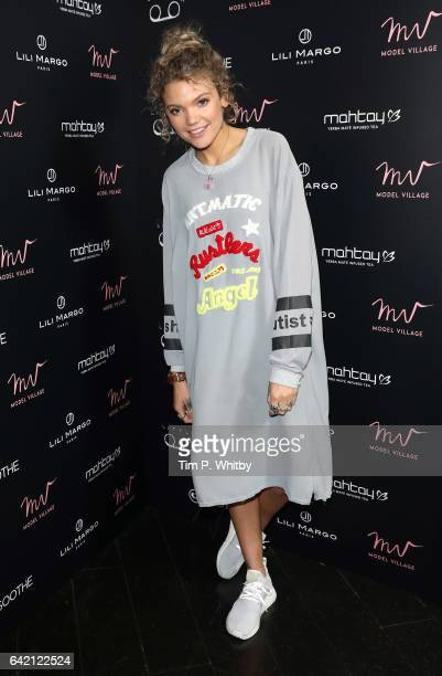 Becca Dudley attends the Model Village Launch for the GameChanging Influencer App at Little Tape on February 16 2017 in London England