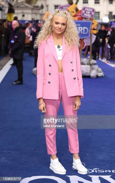 Becca Dudley attends the Onward UK Premiere at The Curzon Mayfair on February 23 2020 in London England
