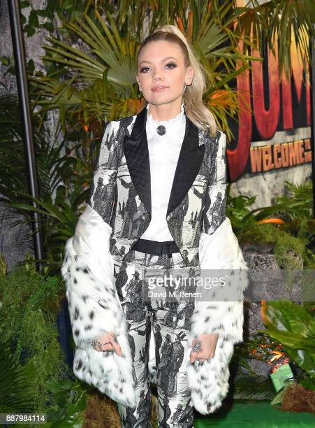 Becca Dudley attends the UK Premiere of 'Jumanji Welcome To The Jungle' at Vue West End on December 7 2017 in London England
