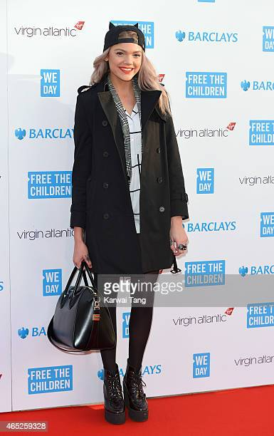 Becca Dudley attends We Day UK at Wembley Arena on March 5 2015 in London England