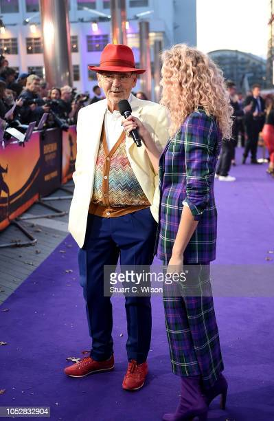 Becca Dudley interviews Jim Beach at the World Premiere of 'Bohemian Rhapsody' at SSE Arena Wembley on October 23 2018 in London England