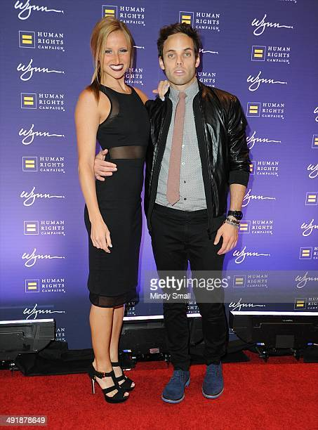 Becca Kotte and Justin Mortelliti arrive at the 9th Annual Human Rights Campaign Gala at the Wynn Las Vegas on May 17, 2014 in Las Vegas, Nevada.