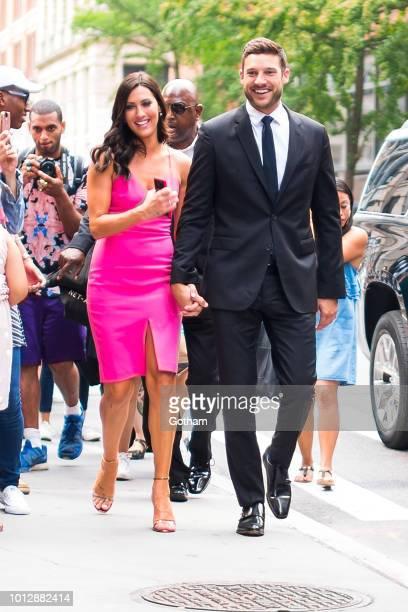 Becca Kufrin and Garrett Yrigoyen are seen in NoHo on August 7, 2018 in New York City.