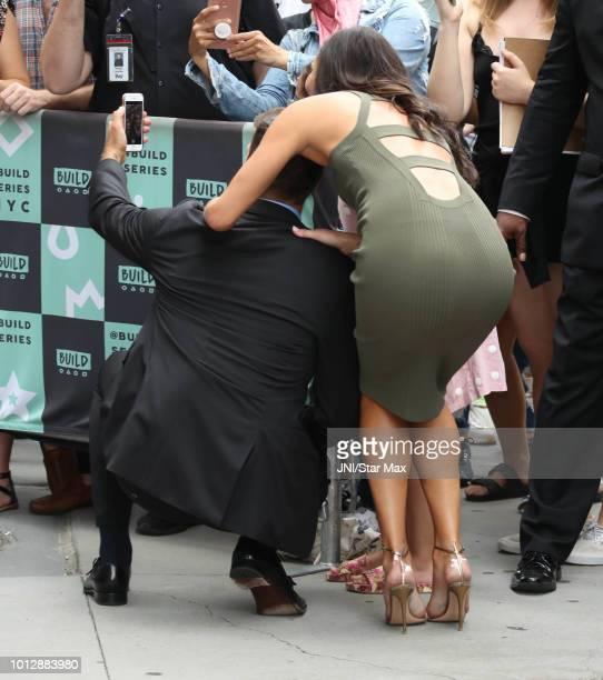 Becca Kufrin and Garrett Yrigoyen are seen on August 7 2018 in New York City
