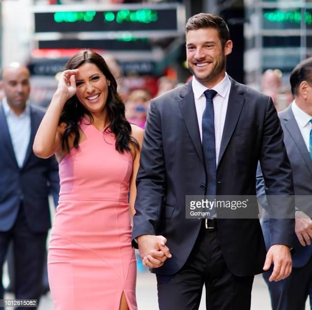Becca Kufrin and Garrett Yrigoyen on August 7 2018 in New York City