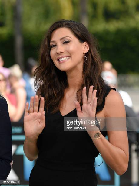 Becca Kufrin visits Extra at Universal Studios Hollywood on June 4 2018 in Universal City California