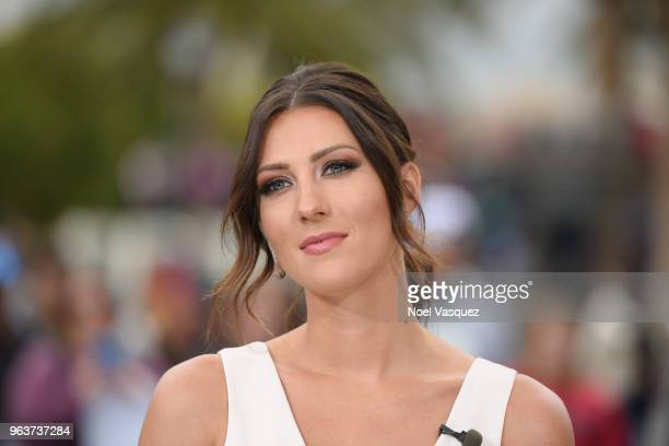 "Becca Kufrin visits ""Extra"" at Universal Studios Hollywood on May 30, 2018 in Universal City, California."