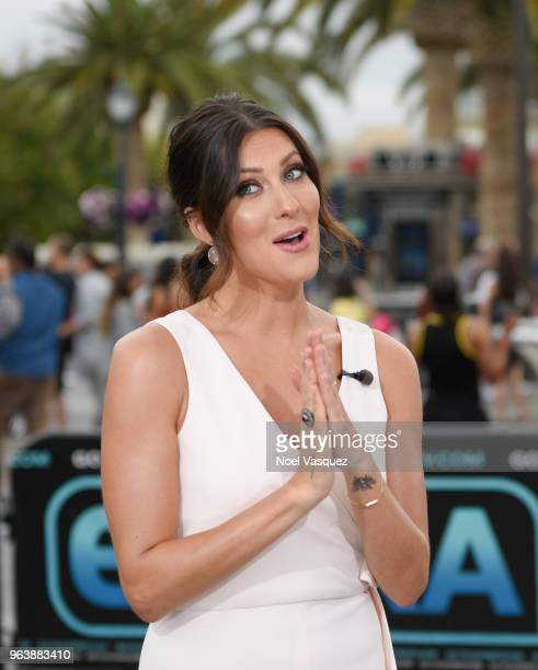 Becca Kufrin visits Extra at Universal Studios Hollywood on May 30 2018 in Universal City California