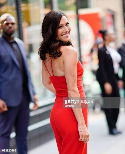 Becca Kufrin wears all red on May 29 2018 in New York City