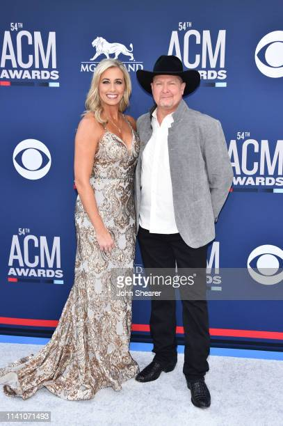 Becca Lawrence and Tracy Lawrence attends the 54th Academy Of Country Music Awards at MGM Grand Hotel & Casino on April 07, 2019 in Las Vegas, Nevada.