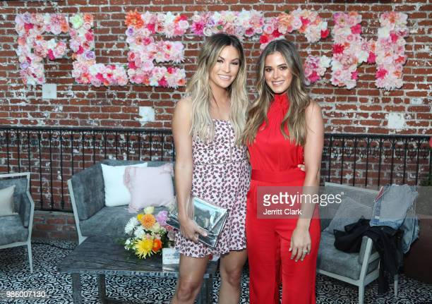 Becca Tilley and Joelle Fletcher attend Fletch X Joelle Fletcher Launch Party at Beauty Essex on June 27 2018 in Los Angeles California