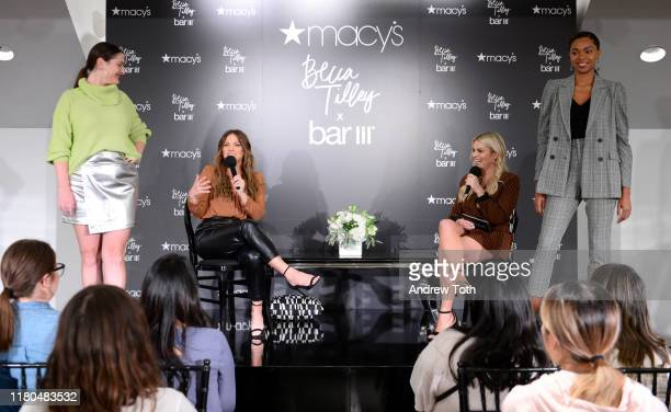 Becca Tilley and Tanya Rad speak on stage during the Becca Tilley x BAR III collection launch at Macy's South Coast Plaza on October 10, 2019 in...