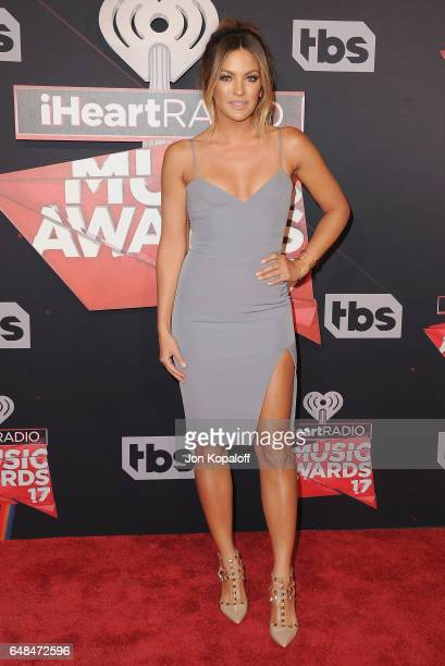 Becca Tilley arrives at the 2017 iHeartRadio Music Awards at The Forum on March 5 2017 in Inglewood California