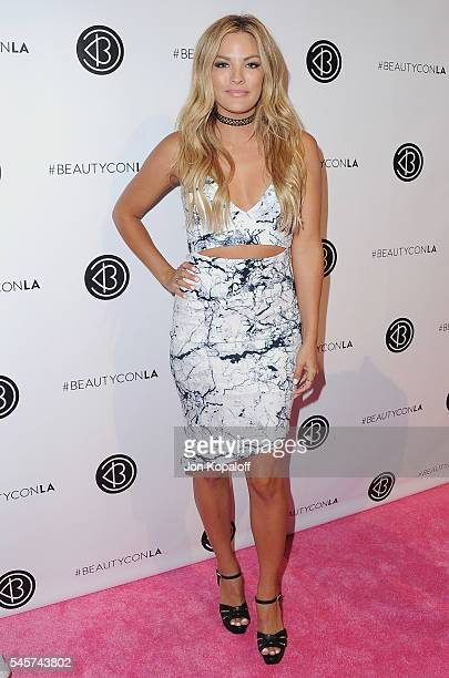 Becca Tilley arrives at the 4th Annual Beautycon Festival Los Angeles at Los Angeles Convention Center on July 9 2016 in Los Angeles California