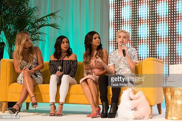 Becca Tilley Jeanine Amapola Jackie Hernandez and YouTube personality Brendan Jordan onstage at the 4th Annual Beautycon Festival Los Angeles at the...
