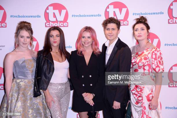 Beccy Henderson JamieLee O'Donnell SaoirseMonica Jackson Dylan Llewellyn and Kathy Kiera Clarke attend The TV Choice Awards 2019 at Hilton Park Lane...