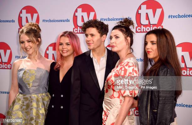 Beccy Henderson SaoirseMonica Jackson Kathy Kiera Clarke Dylan Llewellyn and JamieLee O'Donnell attending the TV Choice Awards held at the Hilton...