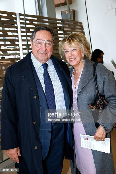 Bechar El Khoury and his wife Alexandra attend the 'Les Clefs d'une Passion' Exhibition Preview Held at Fondation Louis Vuitton on March 30 2015 in...