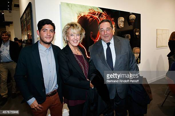 Bechar El Khoury his wife Alexandra and their son attend the FIAC 2014 International Contemporary Art Fair Official Opening at Le Grand Palais on...