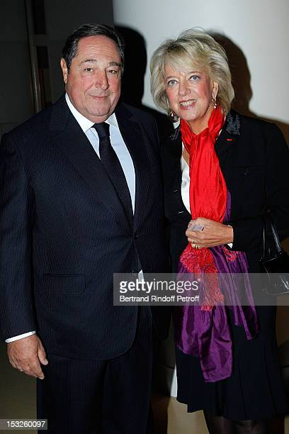 Bechara El Khoury and his wife Alexandra El Khoury attend the Foundation Martine Aublet Gala Dinner at Musee du Quai Branly on October 1 2012 in...