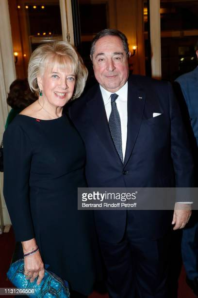 Bechara ElKhoury and his wife Brigitte ElKhoury attend the Fondation Prince Albert II De Monaco Evening at Salle Gaveau on February 21 2019 in Paris...