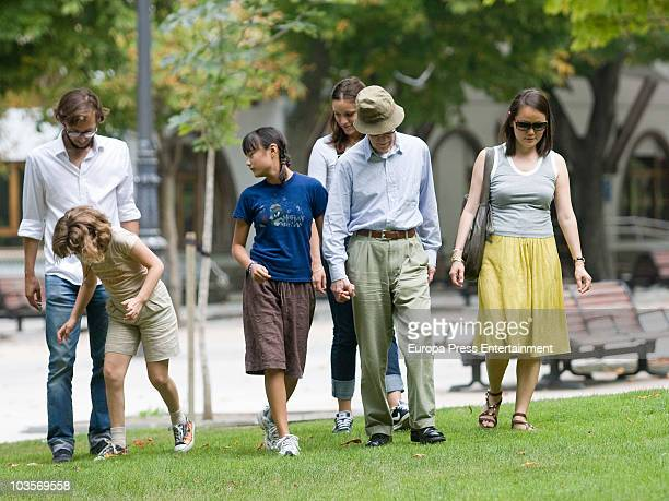 Bechet Dumaine Allen Manzie Tio Woody Allen and SoonYi Previn go for a walk on August 24 2010 in Oviedo Spain